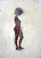 Quadro di  Beppe Fabbrini - Figura Óleos cartÓn