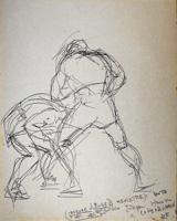 Quadro di  Beppe Fabbrini - Figure pluma papel