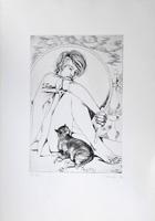 Quadro di  Piero Nincheri - Figura lithographie papier