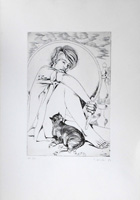 Work of Piero Nincheri - Figura lithography paper