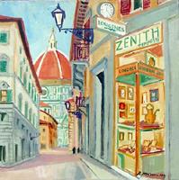 Quadro di  Rodolfo Marma - Via de Servi (Firenze) Óleos tela