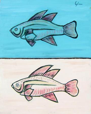 Quadro di graziella giannini pesci for Acquisto pesci online