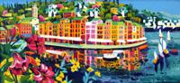 Quadro di  Athos Faccincani - Emozioni e luce verso Portofino huile toile