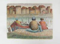 Работы  Roberto Masi - I pescatori (P.D.A.) lithography бумага
