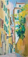 Работы  Rodolfo Marma - Vicolo del Fiordaliso oil холст