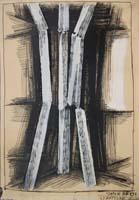 Quadro di  Vinicio Berti - Strutture mixta papel