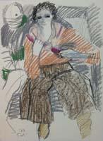 Quadro di  Bruno Paoli - Figure pastel papier