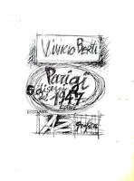 Work of Vinicio Berti - Parigi - Disegni del 1947 (89/90) lithography paper