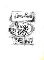 Работы  Vinicio Berti - Parigi - Disegni del 1947 (89/90) lithography бумага