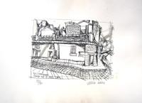 Quadro di  Vinicio Berti - Rue Lemaignan (89/90) litografía papel