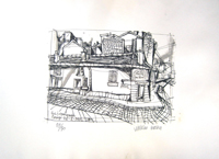 Работы  Vinicio Berti - Rue Lemaignan (89/90) lithography бумага