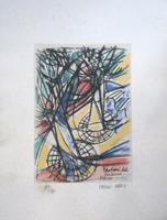Quadro di  Vinicio Berti - Paris (89/90) litografía papel
