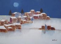Quadro di  Lido Bettarini - Nevicata huile toile