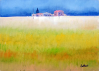 Quadro di  Lido Bettarini - Campo di grano Óleos tela
