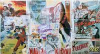 Quadro di  Andrea Tirinnanzi - Strappo al manifesto sottovuoto decollage tableau