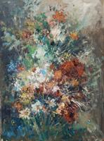 Quadro di  Norberto Martini - Composizione floreale huile toile