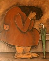 Quadro di Emilio Malenotti - Figura olio tavola