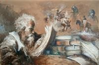 Quadro di  Norberto Martini - Il poeta huile toile