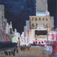 Quadro di  Salvatore Magazzini - New York huile papier sur tableau
