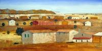 Quadro di  Salvatore Magazzini - Maremma huile papier sur tableau