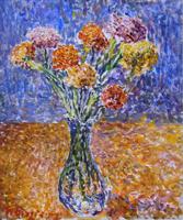 Quadro di  Guido Borgianni - Vaso di fiori Óleos tela