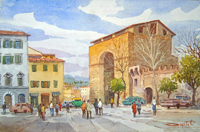 Работы  Giovanni Ospitali - Porta San Frediano watercolor бумага на столе