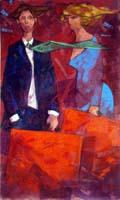 Quadro di  Giampaolo Talani - Partenza mélange carton