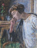 Quadro di  Enzo Faraoni - Pensando huile tableau