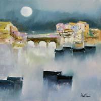 Quadro di  Lido Bettarini - Firenze - Ponte Vecchio Óleos tela