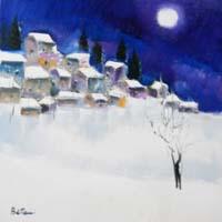 Quadro di  Lido Bettarini - Nevicata Óleos tela