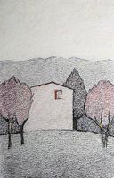 Работы  Alviero Tatini - Primavera pastel бумага