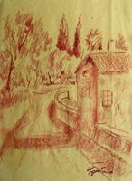 Quadro di  Luigi Pignataro - Paesaggio sanguina papel amarillo