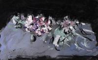Quadro di  Sergio Scatizzi - Rose mixta papel
