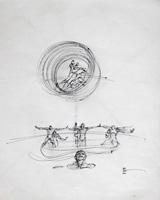 Quadro di  Claude Falbriard - Figure china papel