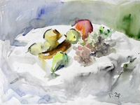 Работы  Gino Tili - Frutta watercolor бумага