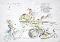 Quadro di  Claude Falbriard - Circo mixta papel