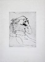 Quadro di  Enzo Faraoni - Figura lithographie papier
