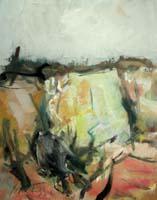 Quadro di  Sergio Scatizzi - Paesaggio mixta papel