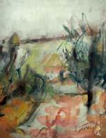 Quadro di  Sergio Scatizzi - Paesaggio acuarela papel