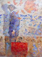 Quadro di  Giampaolo Talani - Fine di un'estate Óleos tabla