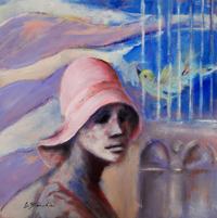 Quadro di  Umberto Bianchini - La gabbia mélange panneaux durs