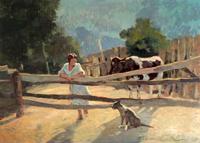 Quadro di  Carlo Domenici - Riposo huile tableau