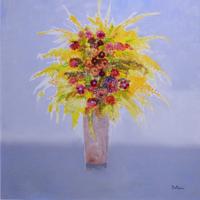 Quadro di  Lido Bettarini - Vaso di fiori huile toile