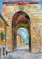 Quadro di Rodolfo Marma  Porta a San Frediano
