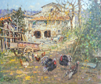 Quadro di  Graziano Marsili - Sull'aia huile toile