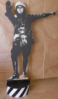 Quadro di  Andrea Tirinnanzi - Il Vigile (Alberto Sordi) sculpture digital papier sur tableau