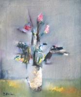 Quadro di  Lido Bettarini - Vaso di fiori Óleos tela