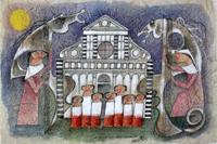 Quadro di  Adorno Bonciani - Concerto mixta de papel de arroz