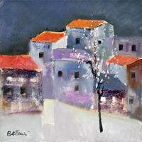 Quadro di  Lido Bettarini - Paesaggio innevato huile toile