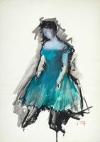 Quadro di  Gino Tili - Ballerina mixta papel